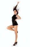 Posa moderna del ballerino di stile Fotografie Stock Libere da Diritti