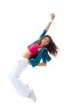 Posa moderna di dancing del danzatore della donna Immagini Stock