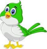 Posa sveglia del fumetto dell'uccello illustrazione vettoriale