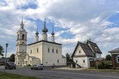 Posad房子和斯摩棱斯克教会的我们的夫人,苏兹达尔 库存图片