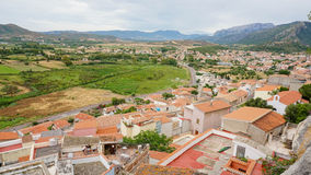 Posada town. Top view, sardegna island Royalty Free Stock Images