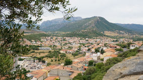 Posada Town. Top view, sardegna island Stock Photo