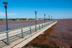 Posadas Boardwalk in Misiones, North of Argentina Stock Images