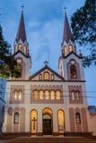 Posadas Kathedraalvoorgevel Argentinië Stock Foto's