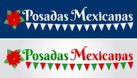 Posadas Mexicanas, Posadas is a Mexican Traditional christmas Celebration, December holiday vector illustration