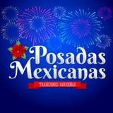 Posadas Mexicanas - Spaanse vertaling: Kerstmis die, Mexicaanse traditionele Kerstmisviering onderbrengen Royalty-vrije Stock Foto's