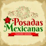 Posadas Mexicanas - Spaanse vertaling: Kerstmis die, Mexicaanse traditionele Kerstmisviering onderbrengen Stock Afbeelding