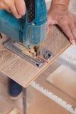 posadzkowy target371_0_ laminat Cieśla rżnięta parkietowa podłogowa deska Fotografia Stock