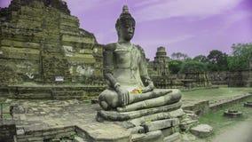 Posadzony Buddha w Ayutthaya Obrazy Stock