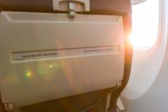 Posadzony znak na samolocie przymocowywa Obrazy Stock