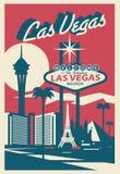 Poscard de Las Vegas Nevada illustration stock