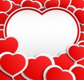 Poscard with hearts Royalty Free Stock Photo