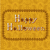 Poscard heureux de Halloween Photos stock