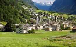 Poschiavo, Zwitserland Stock Fotografie