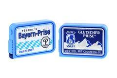 Poschl Gletscher Prise, un tabac à priser nasal en Bavière, Allemagne snuff Image stock