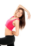 Pose aérobie de danseur de type de forme physique Photos libres de droits