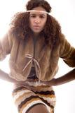 Pose africano da forma elevada Foto de Stock Royalty Free