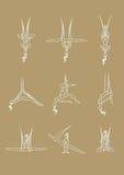 Pose antigravità di yoga Fotografie Stock Libere da Diritti