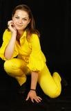 Pose attrayante de femme Photographie stock libre de droits