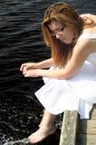 Pose au soleil Photographie stock libre de droits
