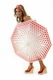 Pose avec un parapluie Image libre de droits
