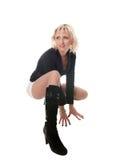 Pose blonde dans le studio Images stock