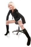 Pose blonde dans le studio Photographie stock