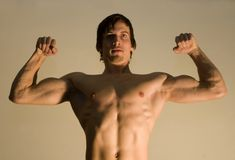 Pose of bodybuilder Stock Photos