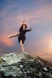 Pose bouclée de danseur Photos libres de droits
