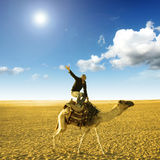 Pose on the camel Stock Images