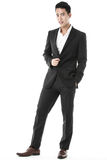 Pose of the confident businessman Stock Photo