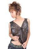 Pose coréenne de mode d'adolescent d'emo Photographie stock libre de droits