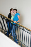 Pose d'adolescent de couples Photos stock