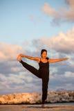 Pose d'aile de yoga Image stock