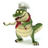 Pose d'apparence de croc de chef Image stock