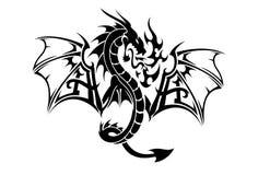 Pose d'art de vol de dragon Images stock