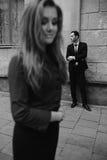 Pose d'homme et de femme Photographie stock libre de droits