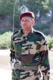 Pose d'une guirlande au monument Amilcar Cabral Image libre de droits