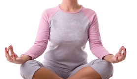 Pose da ioga Foto de Stock