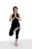 Pose dans le yoga Photographie stock libre de droits