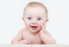 Pose de bébé Photos libres de droits
