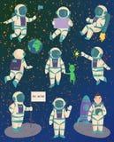 Pose de caractère d'astronaute de vecteur illustration de vecteur