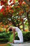 Pose de chameau de yoga Images libres de droits