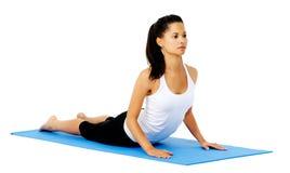 Pose de cobra de yoga Image libre de droits
