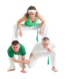 Pose de danseur de Capoeira Photos stock