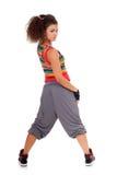 Pose de danseuse de jeune femme Photographie stock libre de droits