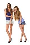 Pose de deux modèles de mode Photos libres de droits