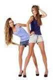 Pose de deux modèles de mode Images stock