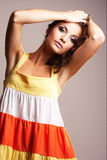 Pose de fille de mode photos stock