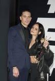 Pose de G-Eazy e de Kehlani no tapete vermelho fotos de stock royalty free